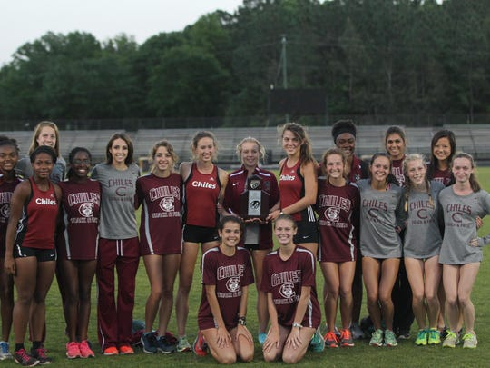 Chiles' girls finished as the district runner-up on Saturday.