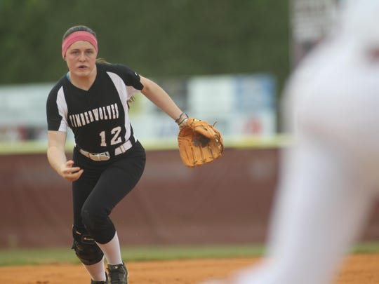 Chiles third baseman Karli Woolington hit a three-run home run, her 12th of the year, in the first inning of a 7-5 loss to Atlantic Coast on Wednesday in a Region 1-8A quarterfinal.