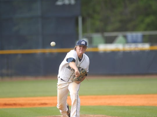 Maclay senior Billy Grant came on in relief against NFC and pitched five scoreless innings, giving the Marauders a chance in a 2-1 loss to the Eagles.