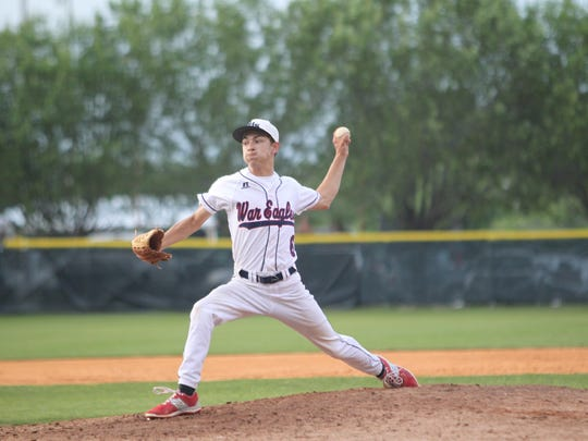 Wakulla pitcher Greyson Rudd fires a fastball during Wednesday's 6-5 loss to West Florida in a Region 1-6A quarterfinal.