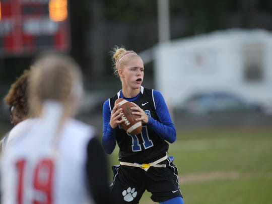 Godby quarterback Shelby Hartley, who had four touchdowns in a district semifinal win over Leon, threw three touchdown passes in a 19-13 district title win over Chiles on Wednesday.