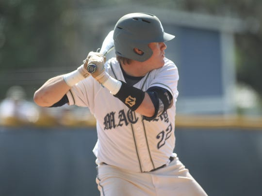 Maclay senior Billy Grant was 2 for 4 against University