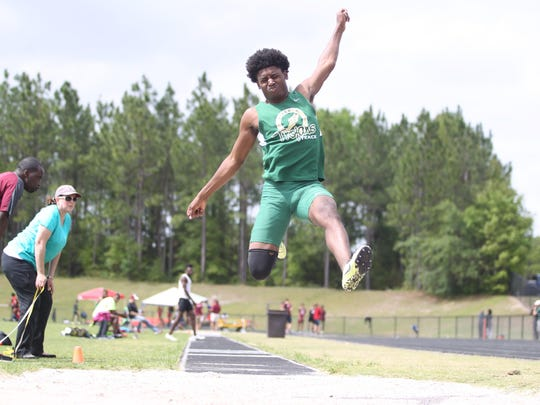 Lincoln senior Raekwon Archer is one of the top triple jumpers in the state.