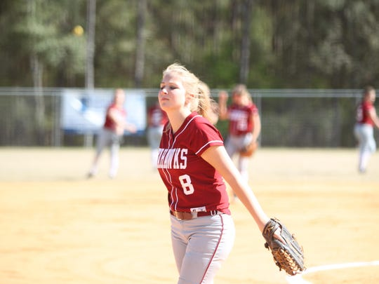 Franklin County junior Megan Collins is 14-5 in the circle with a 2.18 ERA.