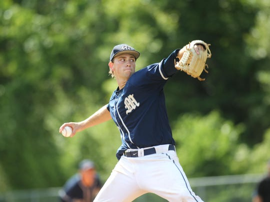 Maclay senior pitcher Max McKinley threw 116 pitches over eight innings as the Marauders won 1-0 in extras against NFC, sending Maclay to the state tournament for the first time since 1993.
