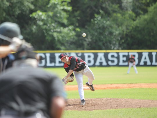 NFC pitcher Cole Ragans hit 94 mph on the radar gun and struck out 10 batters over eight innings but was undone by an eighth-inning hit-by-pitch that scored Maclay's only run in a 1-0 loss.
