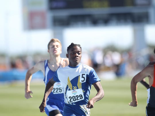 Rickards senior Solomon Stevens was seventh in the 2A 800 run during Friday's state meet.