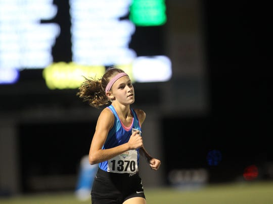 Maclay seventh grader Lindsay James was sixth in the 1A 3200 on Friday night at the state meet.