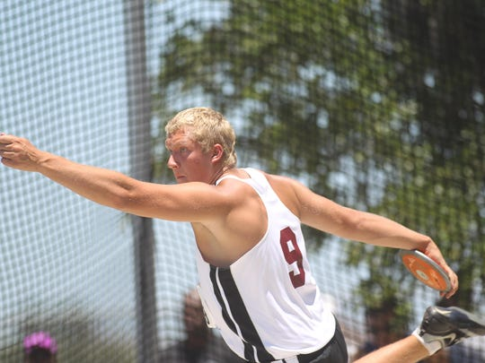 Chiles junior Jordan Poole finsiehd as state runner-up in discus for the next year in a row.