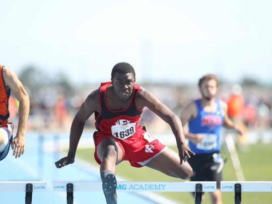 North Florida Christian senior Leonard Holmes is the 2016 All-Big Bend Runner of the Year in boys track and field after winning a Class 1A state title in the 110m hurdles and taking second in the 300m hurdles.