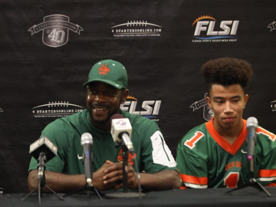 First-year FAMU DRS head coach Rontarius Robinson addresses the media on Tuesday at 4QuartersOnline Football Media Day.