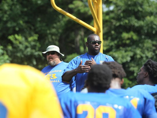 Rickards coach Quintin Lewis is entering his fourth year at head coach and the Raiders have solidified themselves as an annually strong football team.