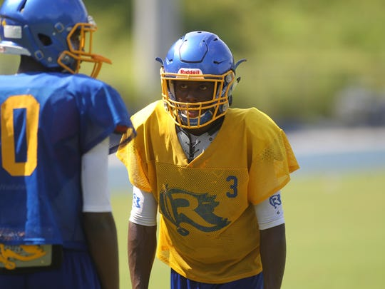 Rickards junior Marcus Riley, a Louisville commit, burst onto the scene as a sophomore last year while playing quarterback. His athleticism will be used primarily at wide receiver this season.