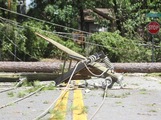 Eighty percent of Tallahassee was without power following