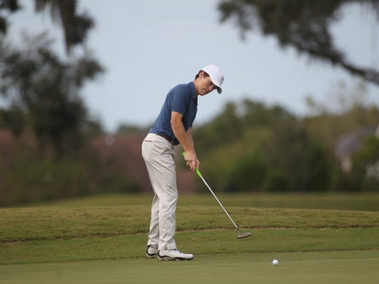 Maclay's John Menton putts on Wednesday during his tournament at Southwood.