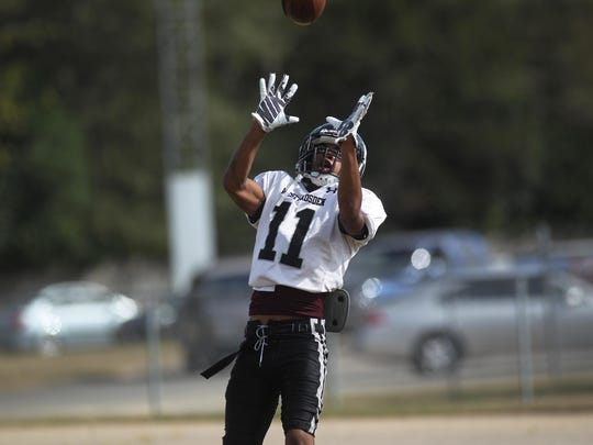 West Gadsden sophomore Armon Williams has caught 38 passes for 587 yards and eight touchdowns this season.