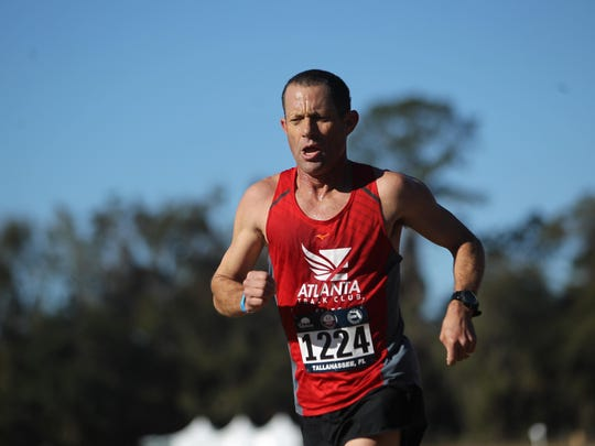 Maclay boys and girls cross country coach Gary Droze competed with Atlanta Track Club during Saturday's USATF National Club Cross Country Championship at Apalachee Regional Park.