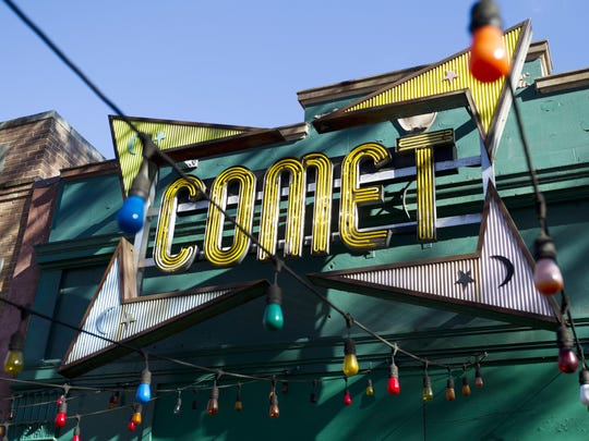 "The front door of Comet Ping Pong pizza shop, in Washington on Dec. 5. A fake news story prompted a man to fire a rifle inside a popular Washington, D.C., pizza place as he attempted to ""self-investigate"" a conspiracy theory that Hillary Clinton was running a child sex ring from there, police said."