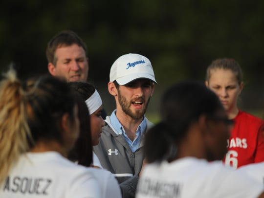 Gabe Stephens is in his first year as East Gadsden's girls soccer coach, where he coaches side by side with his father, Doug Stephens, who coaches the boys.