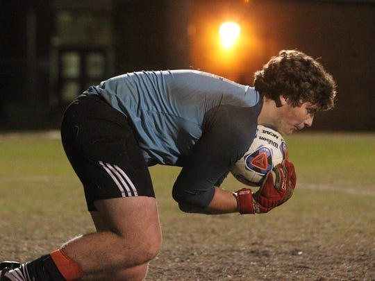 Leon goalie Cameron Walker came up with several big saves against Lincoln in Friday night's District 2-4A championship game.