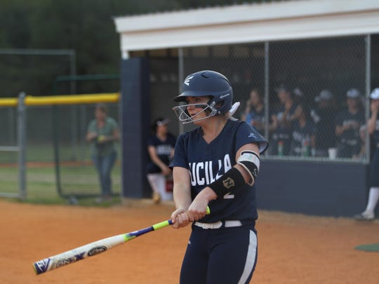 Aucilla Christian's Elizabeth Hightower was having a monster season at the plate in just 10 games of her sophomore season before tearing her ACL and missing the remainder of the season.