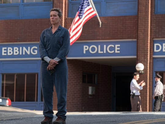 "Frances McDormand in ""Three Billboards Outside Ebbing, Missouri."""