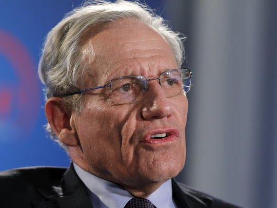 Bob Woodward FILE - This June 11, 2012 file photo shows former Washington Post reporter Bob Woodward speaking during an event to commemorate the 40th anniversary of Watergate in Washington. Details are starting to come out from journalist Bob Woodward's forthcoming book on President Donald Trump's first 18 months in office. (AP Photo/Alex Brandon, file)