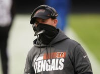 Cincinnati Bengals head coach Zac Taylor is shown during the first half of an NFL football game against the Washington Football Team, Sunday, Nov. 22, 2020, in Landover, Md. The Miami Dolphins play against the Cincinnati Bengals on Sunday, Dec. 6.(AP Photo/Andrew Harnik)