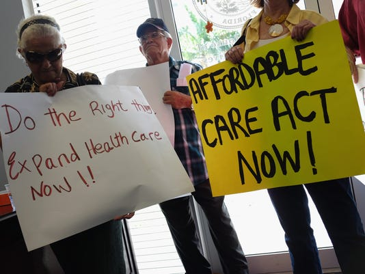 Activists Demonstrate In Support Of Medicaid Expansion And The Affordable Healthcare Act