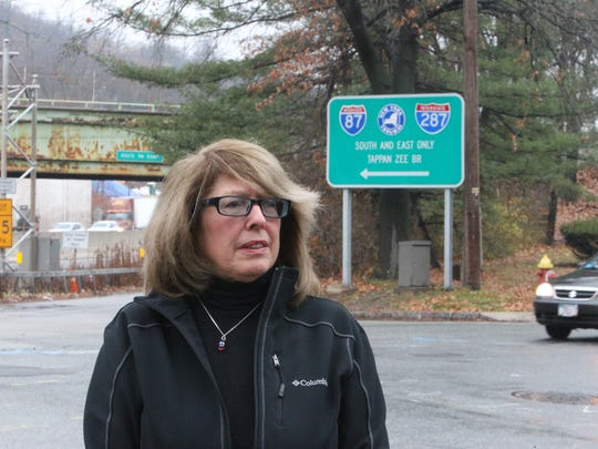 South Nyack Mayor Bonnie Christian at Cornelison Avenue and South Broadway near Village Hall in a file photo.
