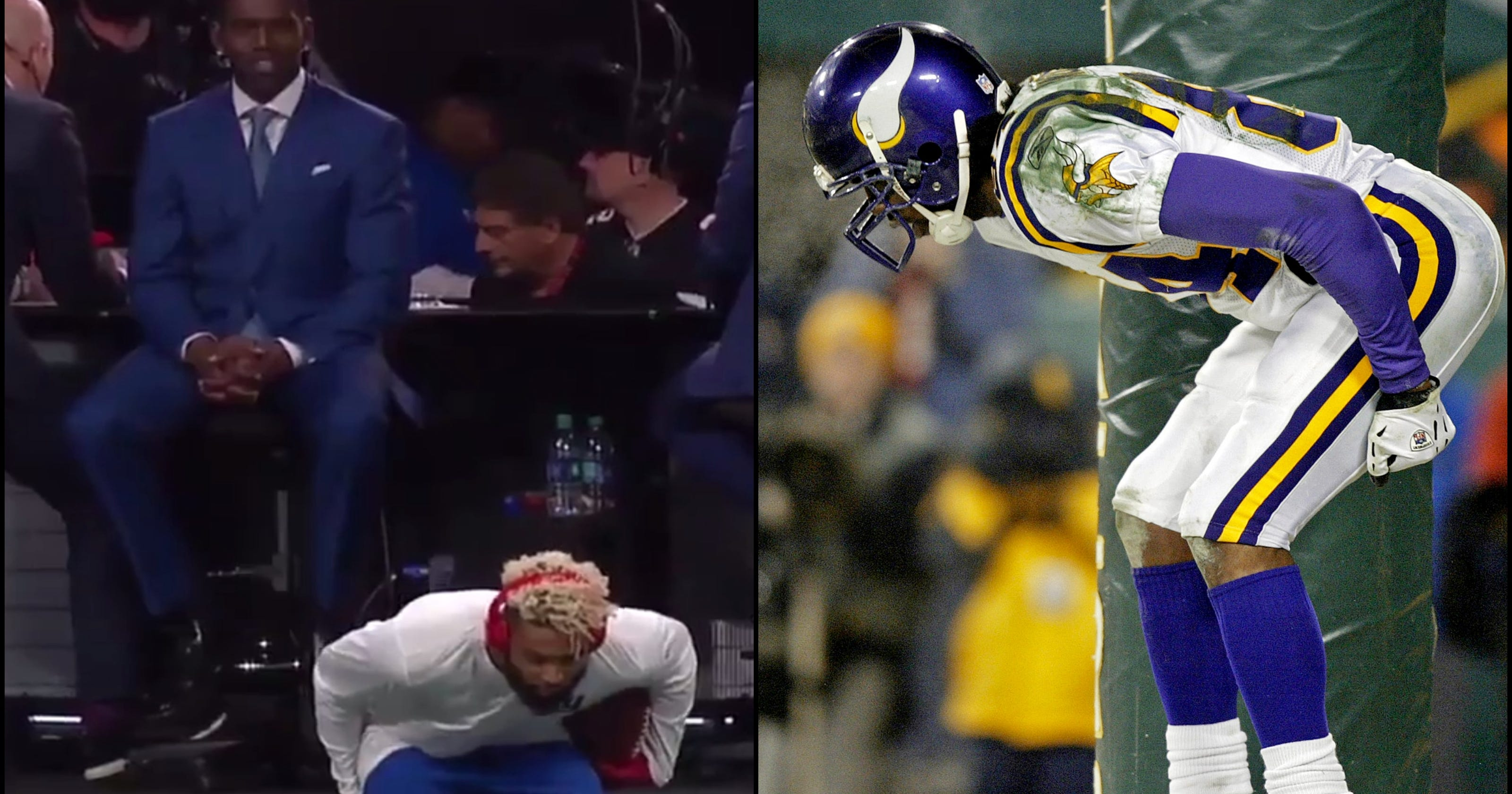 the latest 23dbe c4915 NFL: Odell Beckham Jr. greeted Randy Moss with moon celebration