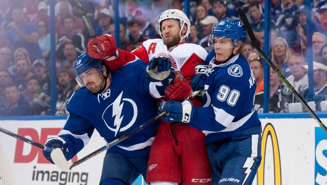 Niklas Kronwall and the Wings were squeezed out of the playoffs by the Lightning in the first round.