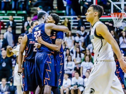 MSU vs Illinois Mens Basketball