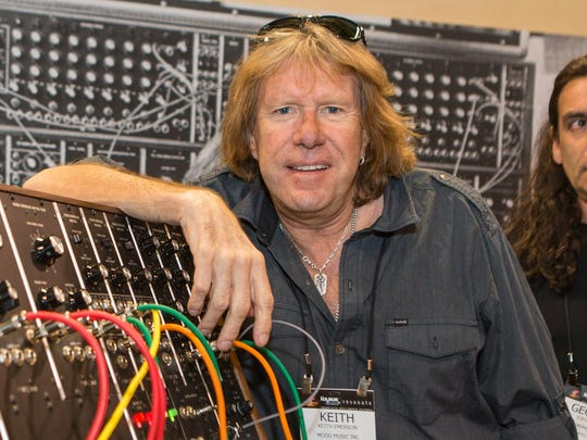 Keith Emerson, shown at the 2015 National Association of Music Merchants show in Anaheim, California, died on March 11.