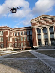 A HorseFly drone in tests at the University of Cincinnati.