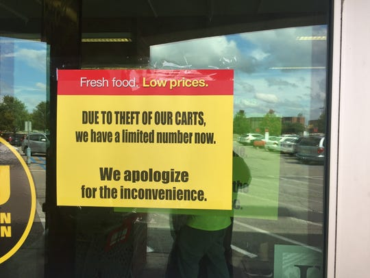 Pay Less Super Market managers posted these signs on