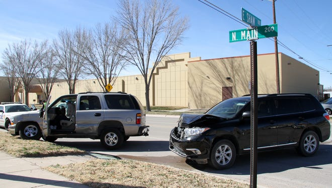 Two vehicles were involved in an accident at Shaw and Main on Monday morning.