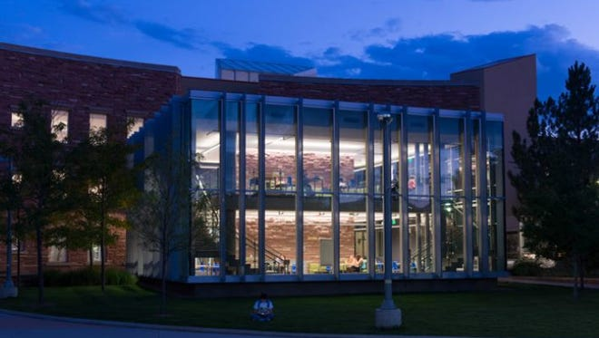 The William E. Morgan Library on the Colorado State University campus is one of the signature buildings of the revitalization.