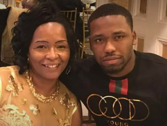 Akrum Wadley, right, and his mother, Sharonda Phelps.