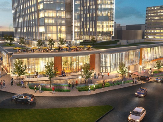 Architectural renderings of the proposed mixed-use