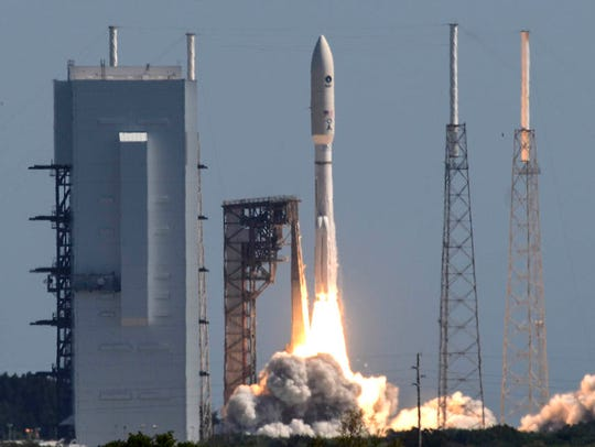 A United Launch Alliance Atlas V rocket lifted off