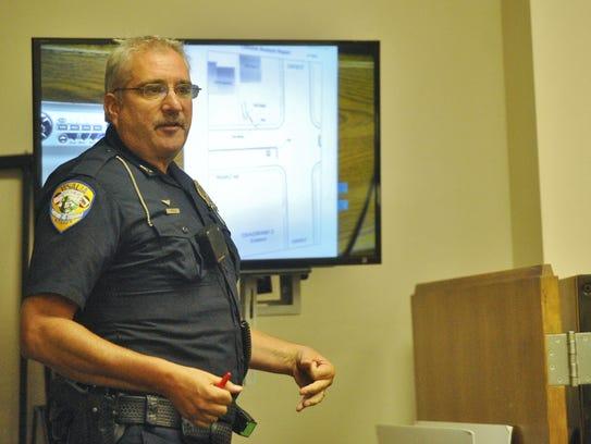 Officer Jeff Wheeler testified on Wednesday.