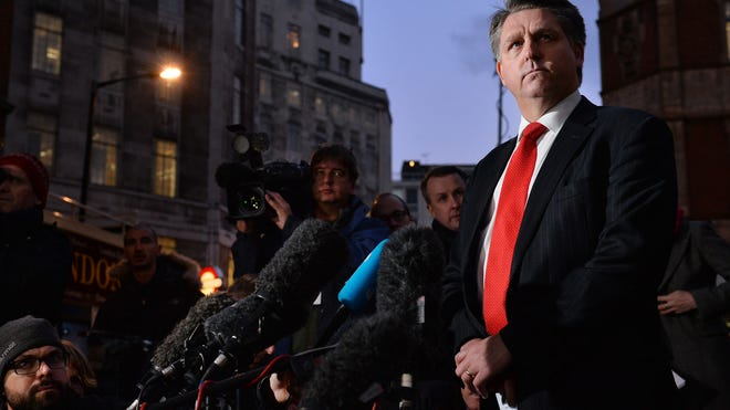 Detective Inspector Kevin Hyland addresses the media outside New Scotalnd Yard in London on Nov. 21, 2013, during a news meet concerning the rescue of three women believed to have been held as slaves for 30 years.