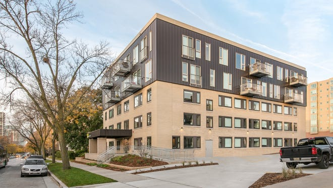 Sage on Prospect, a new apartment building on Milwaukee's east side, has received platinum LEED certification for being environmental sustainable.