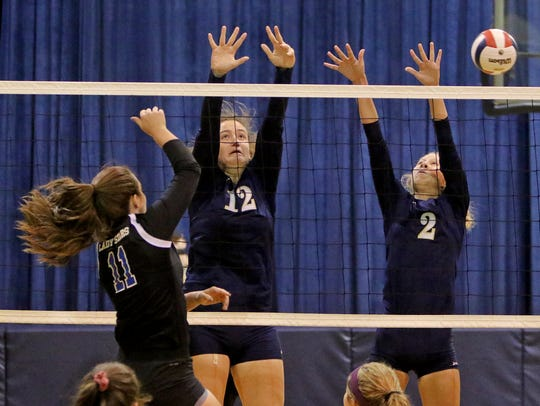 Wichita Christian's Maddison Harris gets the kill as