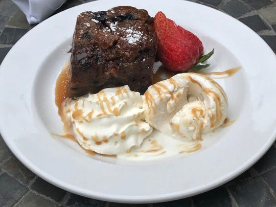White Chocolate Blueberry Bread Pudding.