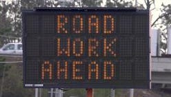 The westbound outside lane of Interstate 10, from east of the CSX railroad overpass to east of the Palafox Street overpass will be restricted to one lane from 9 a.m. to 3 p.m. today.
