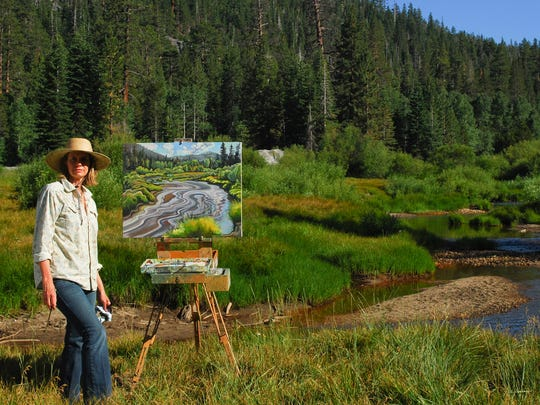 """Tahoe-based artist Phyllis Shafer paints """"en plein air."""" Some of Shafer's work is currently on view at the Nevada Museum of Art in Reno, Nev., as part of """"Tahoe: A Visual History."""""""