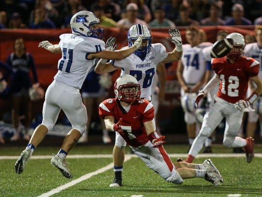 Beechwood's Jacob Sherron tries unsuccessfully to pull