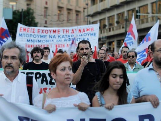 EPA GREECE PROTEST POL CITIZENS INITIATIVE & RECALL GRC